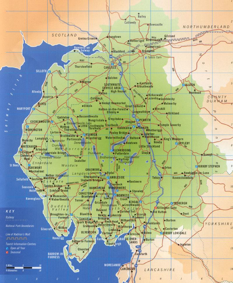 The lake district map